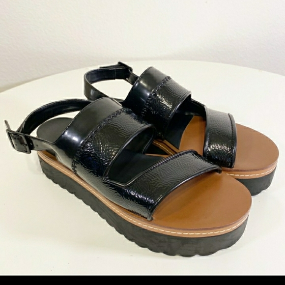 Zara Black Chunky Platform Sandal